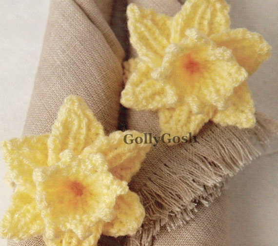 PDF Knitting Pattern for Spring Flower Easter Daffodil Knitting Pattern - Ins...