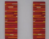 Wood Wall Art ,Abstract Painting on Wood , Sculpture Modern Wall Art,Red Orange