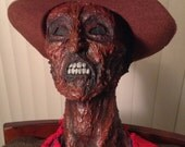 Freddy Krueger / Life Size posable corpse sculpture / Rotted Corpse / A Nightmare on Elm Street / Fan art / Handmade