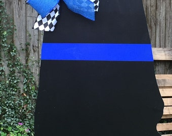 Police Officer Door Hanger, Law Enforcement, State of Alabama, Blue Line Decor