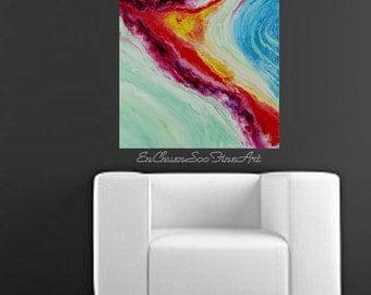 Valiant - Original Medium Size (30x24in) Abstract Acrylic Painting - Free Shipping within US