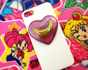 Sailor Moon Inspired iPhone Case-Heart Moon- for iphone 5, and iPhone SE
