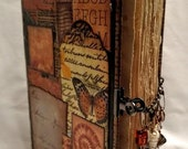 Journal - Hand Made - Vintage Look - Beach Themed - Mixed Media