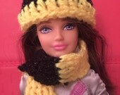 Wizard Inspired Hat and Scarf for dolls in House Colors