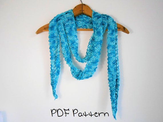 Skinny Scarf Knitting Pattern Fast Beginner Pattern from ramsgirldesign on Et...