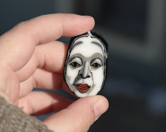 Noh Mask Coin