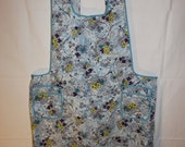 Vintage Full Apron - H Back Style - 1940s - 1950s - Smock, Pinafore - Floral Print