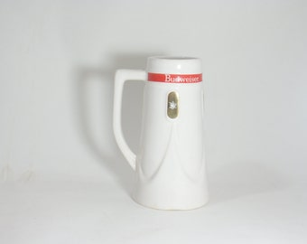 Beer Budweiser Stein Mug Busch Anheuser Vintage Ceramarte Rare Collector