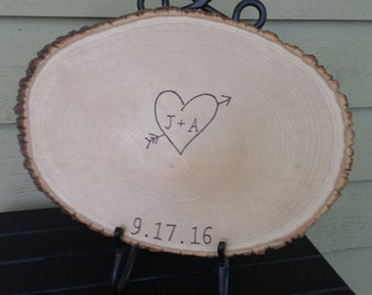 Alternative Guest Book, Guest Book Sign, Log Guest Sign, Personalized Log Sign, Rustic Guest Book, Rustic Wedding, Custom Wedding Sign