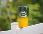 YETI  Green Bay Packers Powder Coated Stainless Steel Tumbler Two Color Ombre