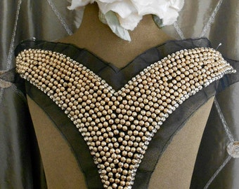Gold Beaded Appliques