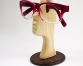 Free Shipping, Stylish Hand Sculpted Helping Head Eyeglasses/ Reading Glasses Stand. Hand Made in the USA