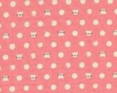 Cotton + Steel - Sarah Watts - Cat Lady - Friskers Pink - Double Gauze