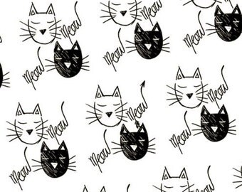 Ink & Arrow by Quilting Treasures - The Cat's Meow - Cat Faces