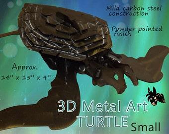 SMALL Turtle Metal Art, Garden Art, Lawn Art