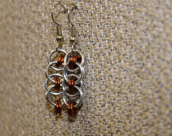 Brown helm earrings