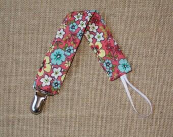 Floral Pacifier Clip