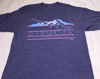Vintage super soft and thin Bermuda shirt