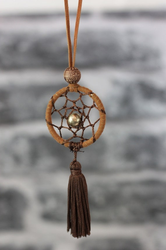 BROWN DREAMCATCHER NECKLACE -Statement Necklace- Dreamcatcher- Bohemian- Boho chic- Festival necklace- Bespoke Jewelry- Festival- Vintage