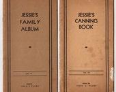 Vintage Iowa Cookbook, 1940s Recipe Book, Jessie S Young, KMA Radio Station, Shenandoah Iowa, Jessies Family Album, Jessies Canning Book