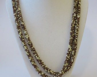 Handmade Earth Tone Beaded Necklace