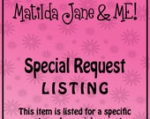 Special Request Listing for Heather W.
