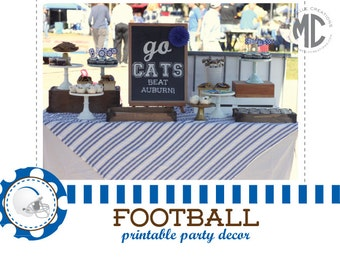 PRINTABLE PARTY COLLECTION - Football Party Collection