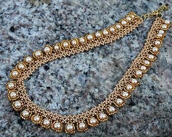 Beadwoven necklace
