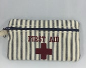 First Aid Kit Striped First Aid Pouch Ticking Stripe Travel