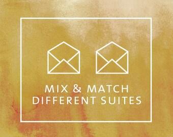 MIX & MATCH SUITES (mix designs from different suites)