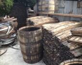 Large Order of Reclaimed Bourbon Barrel Parts (Barrel Heads, Staves, Metal Hoops, Staves Cut Offs)
