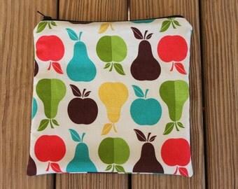 Reusable ZIPPER Sandwich Bag, Apples & Pears - Zipper Sandwich Bag