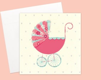 It's a Baby Girl Greeting card or greeting card set