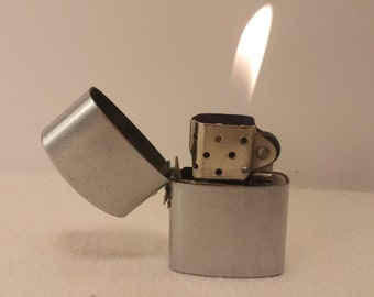Vintage ELEGANT Japan Shortie FlipTop Lighter - rehabbed with new wick and flint, cleaned inside and out