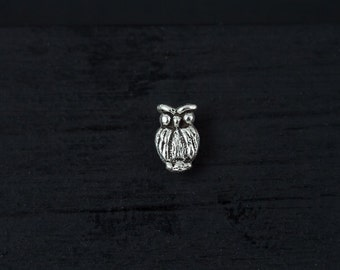 Mini Owl sterling silver push in 16gauge bio flexible tragus / cartilage /helix piercing