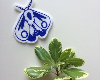 Royal Blue Moth Patch