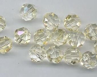 Twelve non-standard Swarovski crystals - Art. 5000 - 10 mm - crystal champagne