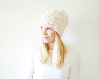 SUMMER SALE RTS chunky knit hat womens slouchy hat beanie - fisherman - the Icard
