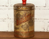 Vintage Tin Coffee Can - Thos. Wood and Co. Importers and Roasters, Boston