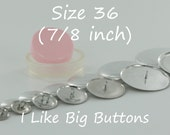 10 WIRE BACK Size 36 (7/8 Inch) Fabric Cover Buttons/Button Kit with Tool (Ships from the USA) Use to make Fabric Covered Buttons