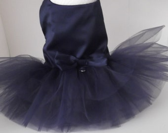 Navy Blue Dog Wedding Dress (or your choice of color), Dog. Navy Blue Wedding Tutu Dress -  Bridesmaid Dog Dress Tutu, bridal dog Dress
