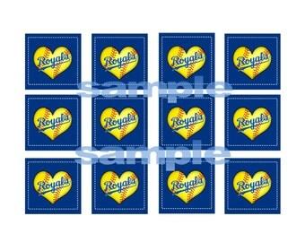 Printable Royals Softball Tag Label
