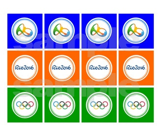 Printable Instand Download Rio Olympic Party Tags