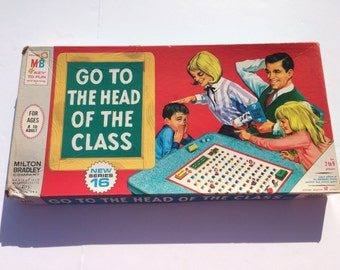 Vintage Board Game Go To The Head of The Class 1967 New Series 16 Vintage Game Night Family Game