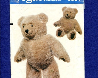 Vintage 1980s Vogue 569 Teddy Bear 23 Inches Tall