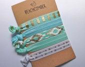 hair tie bracelets, beach bracelets, mermaid jewelry, beach accessory, friendship bracelets, girl gift