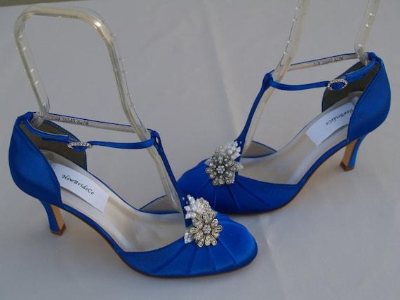 Royal Blue Wedding Heels: Royal Blue Wedding Shoes Vintage Style Brides Something Blue