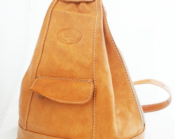 Backpack - Large British Tan Leather over the shoulder sling and pockets by Chaco