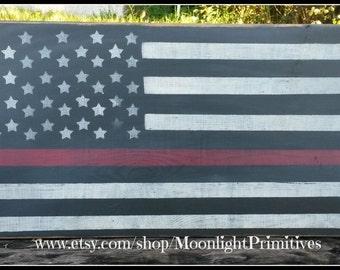 Thin Red Line Flag, Firefighter, Firefighter Gifts, Thin Red Line, Firefighter Signs, Thin Blue Line