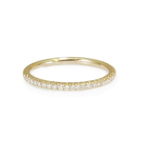 Thin Diamond Wedding Ring Full Eternity by SillyShinyDiamonds